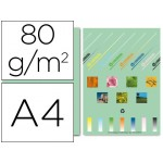 Papel A4 verde claro 80 g. Liderpapel