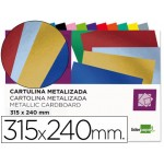 Bloc de cartulinas metalizadas 315 x 240 mm.