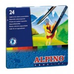 Lápices acuarelables de 24 colores Alpino