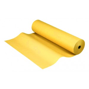Bobina papel kraft de 25 metros color amarillo