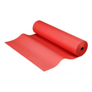 Bobina papel kraft de 25 metros color rojo