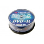 DVD+R 4.7 GB Verbatim (Tarrina 25)