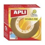 Cinta adhesiva de doble cara Apli Double Side 10 m. x 15 mm.
