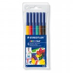 Rotuladores de 6 colores Noris Club Staedtler